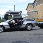 The Magnetic Skirt Garter–and DeLoreans–in the wild