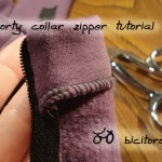 Tutorial: Sporty collar separating zipper