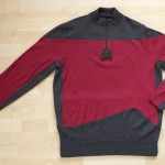 mens merino wool cycling jersey - star trek