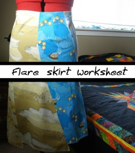 6-panel flare skirt tutorial
