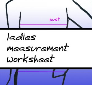 How to take your measurements - ladies