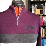 Womens merino wool cycling jersey - closeup