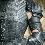No words needed: Joan of Arc armor made from bike inner tubes