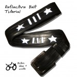 Tutorial: Reflective recycled inner tube belt