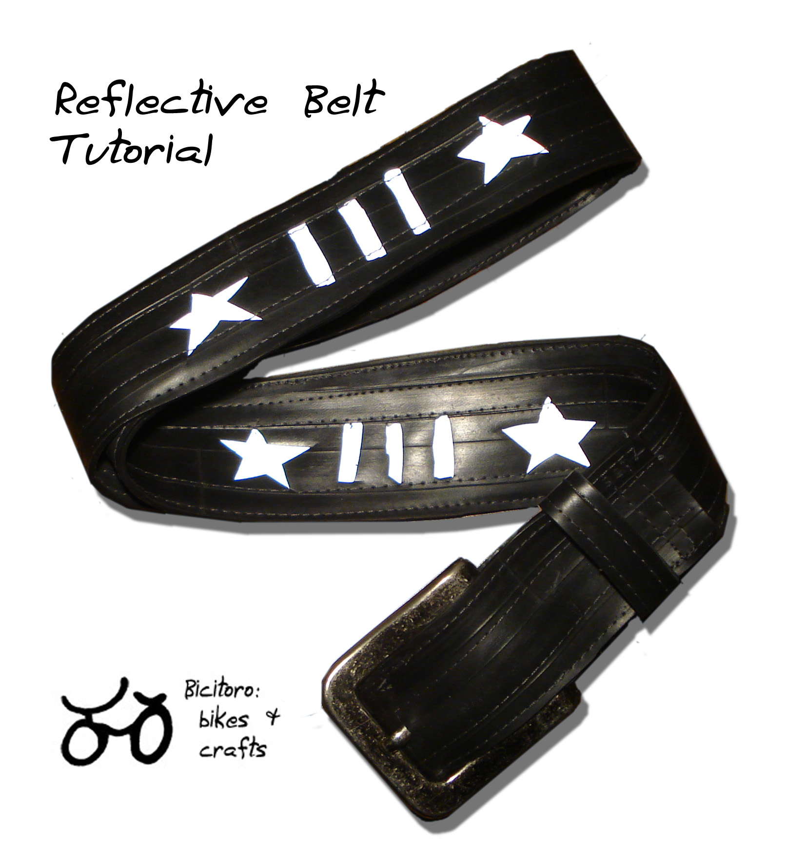 Tutorial reflective recycled inner tube belt bicitoro bikes ive fandeluxe Ebook collections