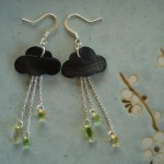 Tutorial: bike inner tube earrings, or, Bicitoro visits the papercrafting aisle, with apologies to Ms. Stewart