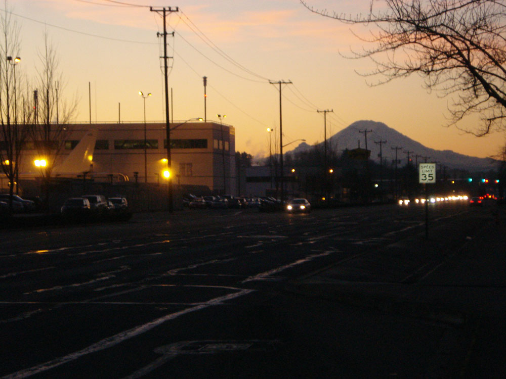East Marginal Way at sunrise