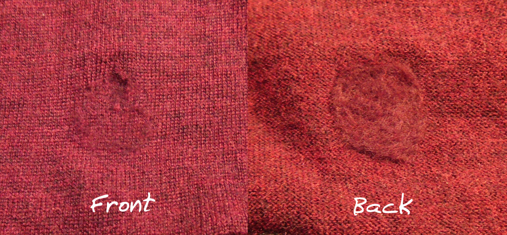 Tutorial Mending A Hole In A Sweater 2 Ways Bicitoro Bikes And Crafts