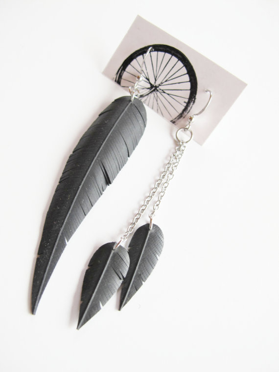 Feather earrings | RosePedals Jewelry