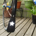 Tutorial: reflective recycled inner tube mudflap