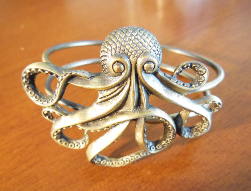 Brass octopus bracelet