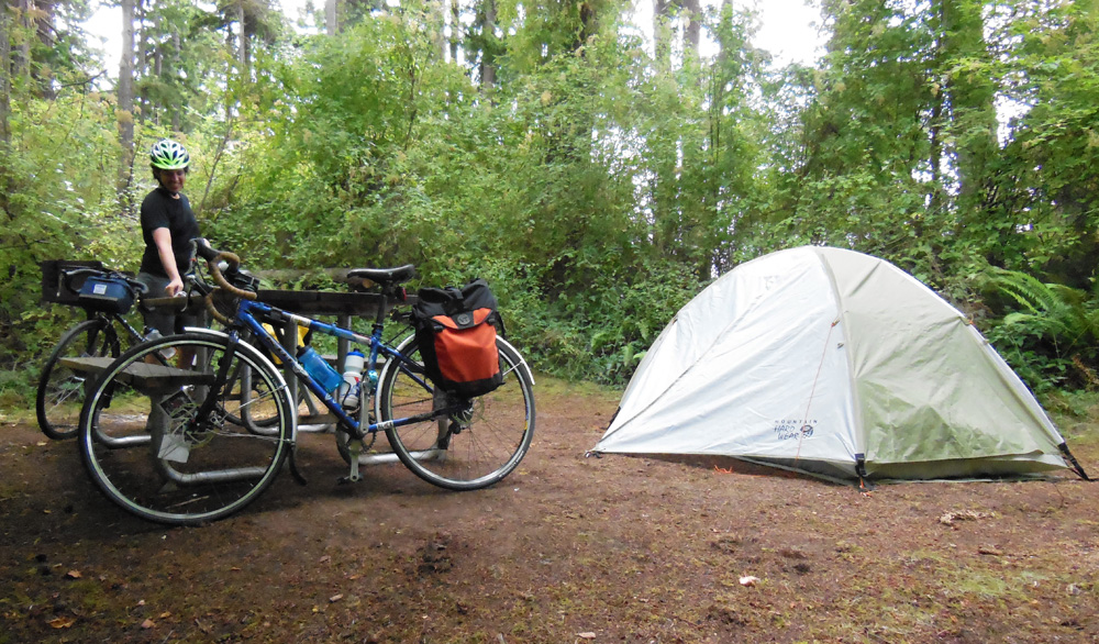 Whidbey Island bike camping - campsite2