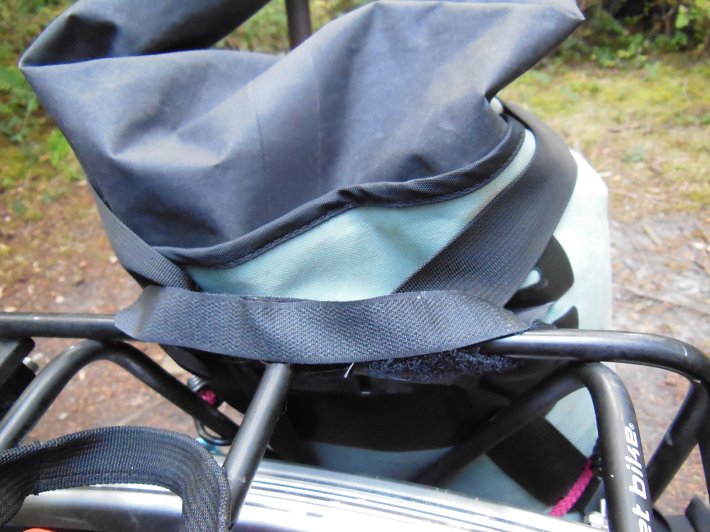 Whidbey Island bike camping - janky pannier