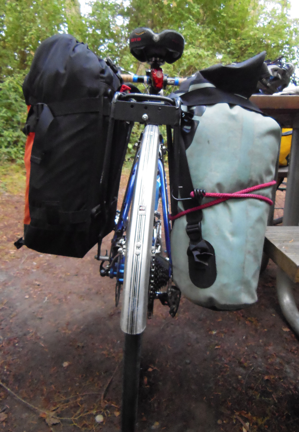 Whidbey Island bike camping - panniers