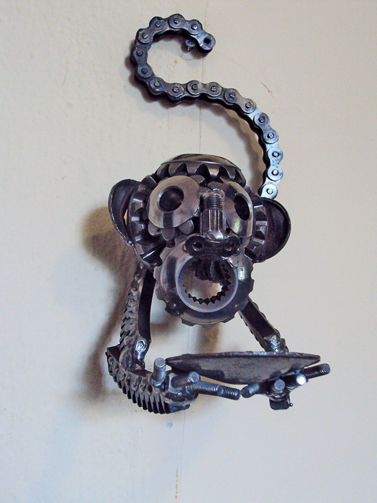 steampunk_monkey_wall_candle_holder_by_metalmorphoses-d5l5eln