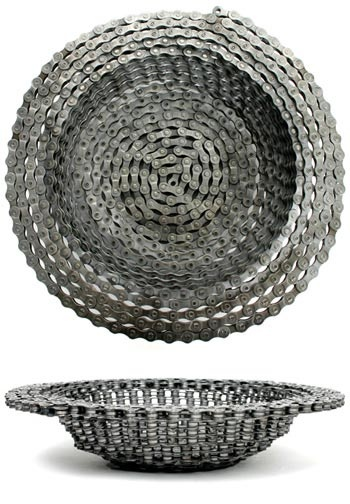 round bike chain bowl