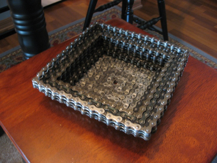 square bike chain bowl