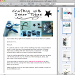 A first look at the Crafting With Inner Tubes e-book
