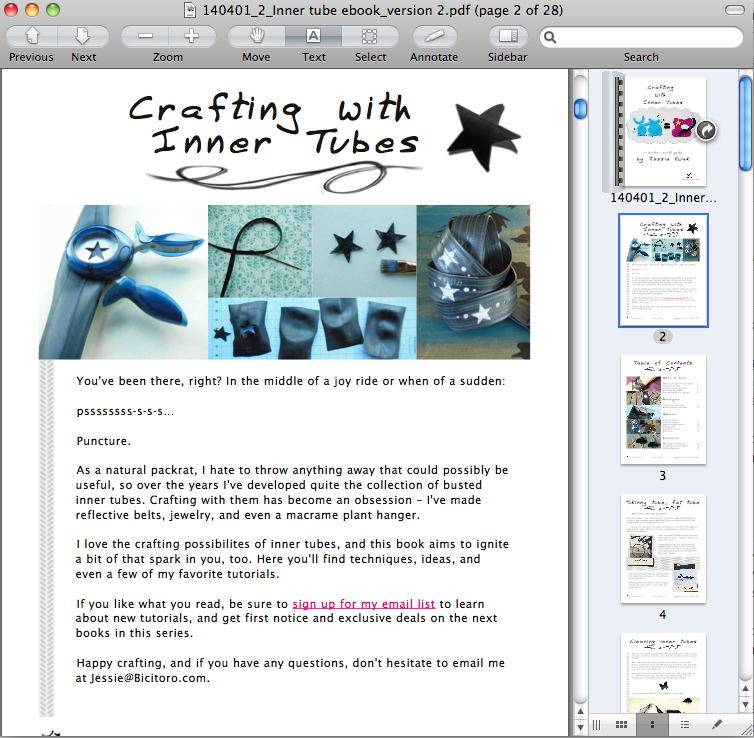 Crafting with inner tubes preview 1
