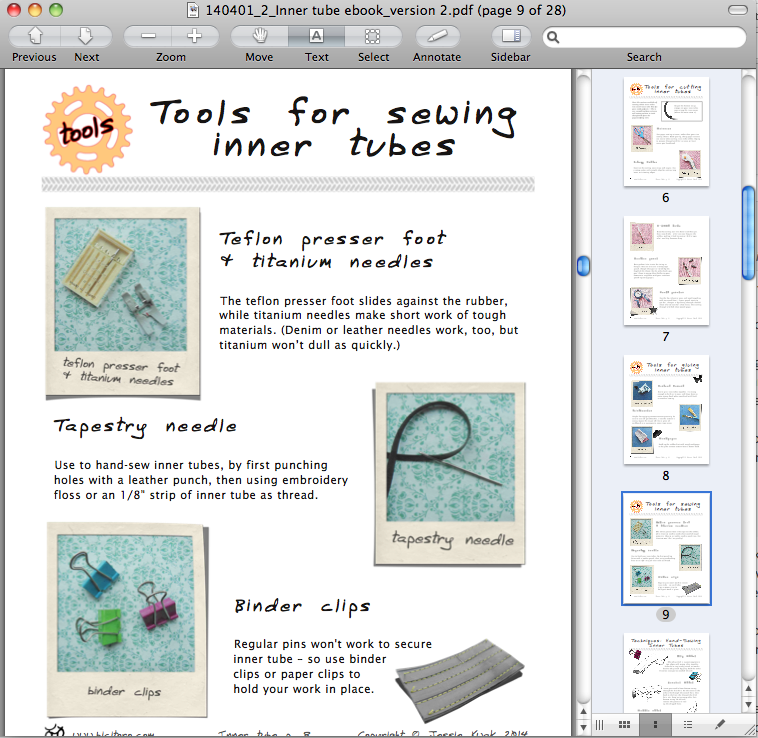 Crafting with inner tubes preview 2