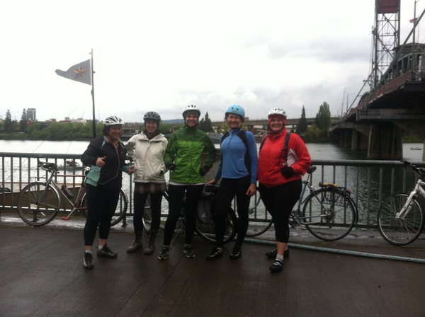 Last Saturday's Women on Wheels ride to Lake Oswego.